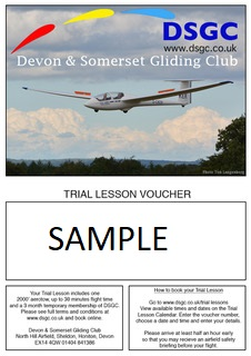 trial lesson voucher sample