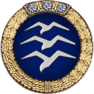 Gold Badge with 3 Diamonds